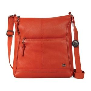The Sak Orange Iris Leather Crossbody Bag